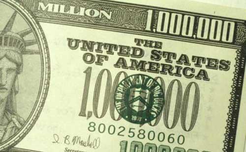 1000000 dollars
