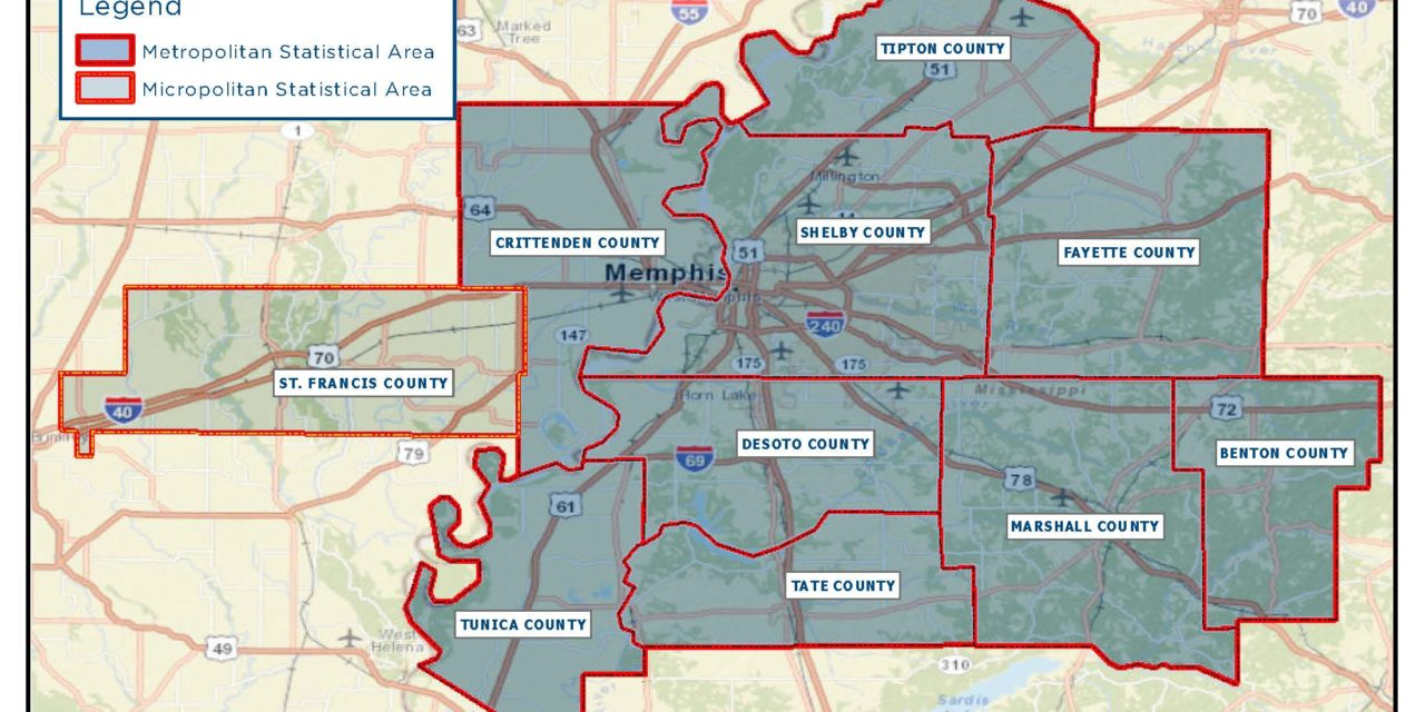 Memphis MSA Population Churn: Winners And Losers