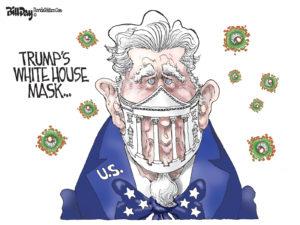 Trump's White House Mask, A Cartoon by Award-Winning Bill Day