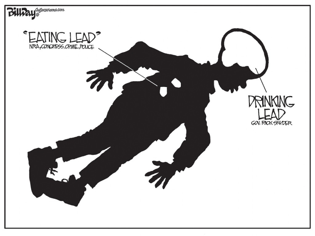 Death By Lead, A Bill Day Cartoon