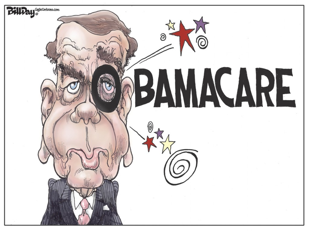 Boehner's Black Eye, A Bill Day Cartoon