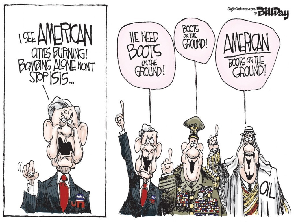 Boots on the Ground, A Bill Day Cartoon