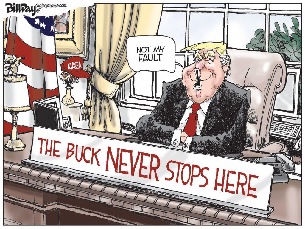 The Buck Never Stops Here, A Cartoon by Award-Winning Bill Day