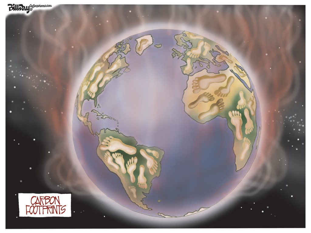 Carbon Footprints, A Bill Day Cartoon