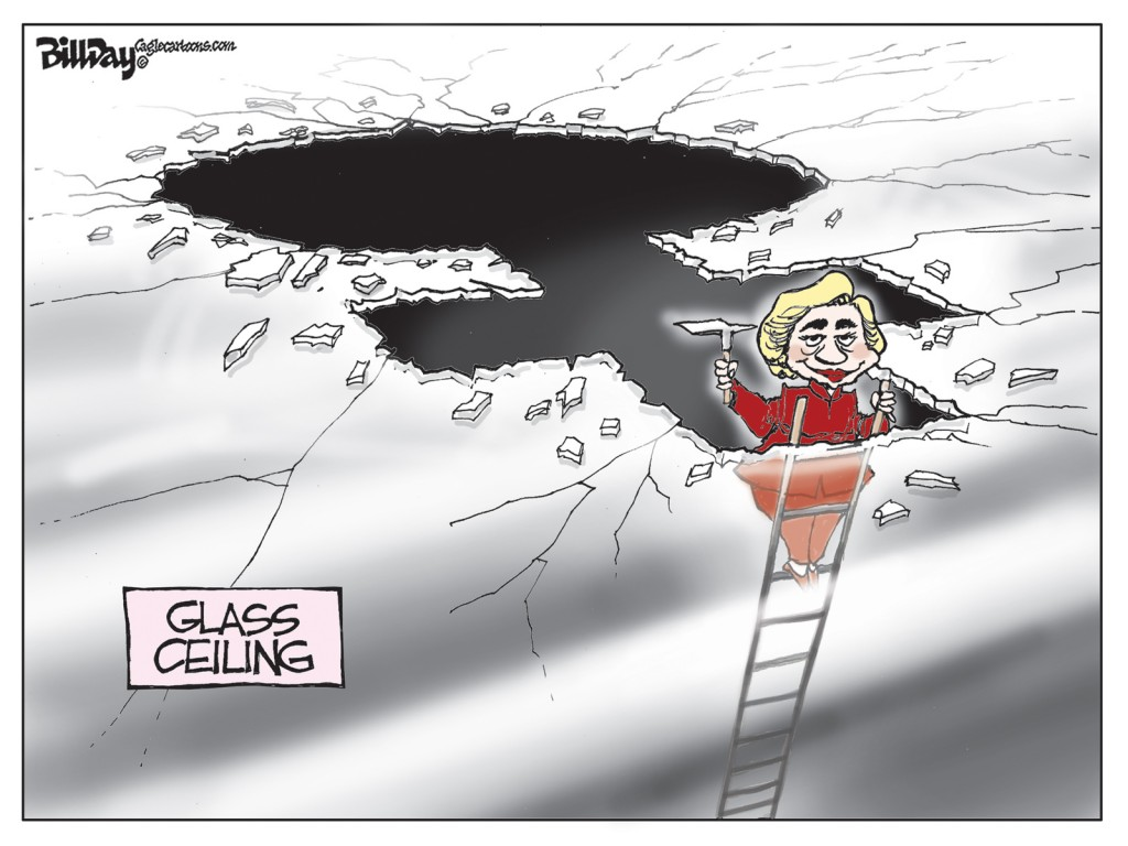 Glass Ceiling, A Bill Day Cartoon