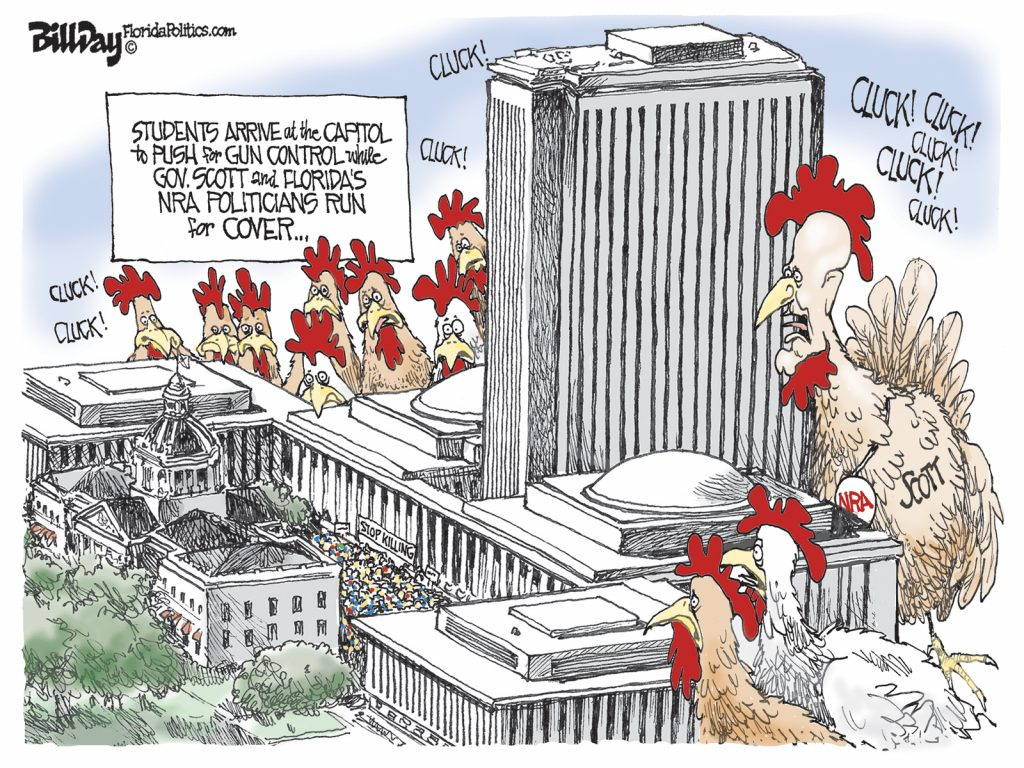 NRA Chickens, A Cartoon by Award-Winning Bill Day