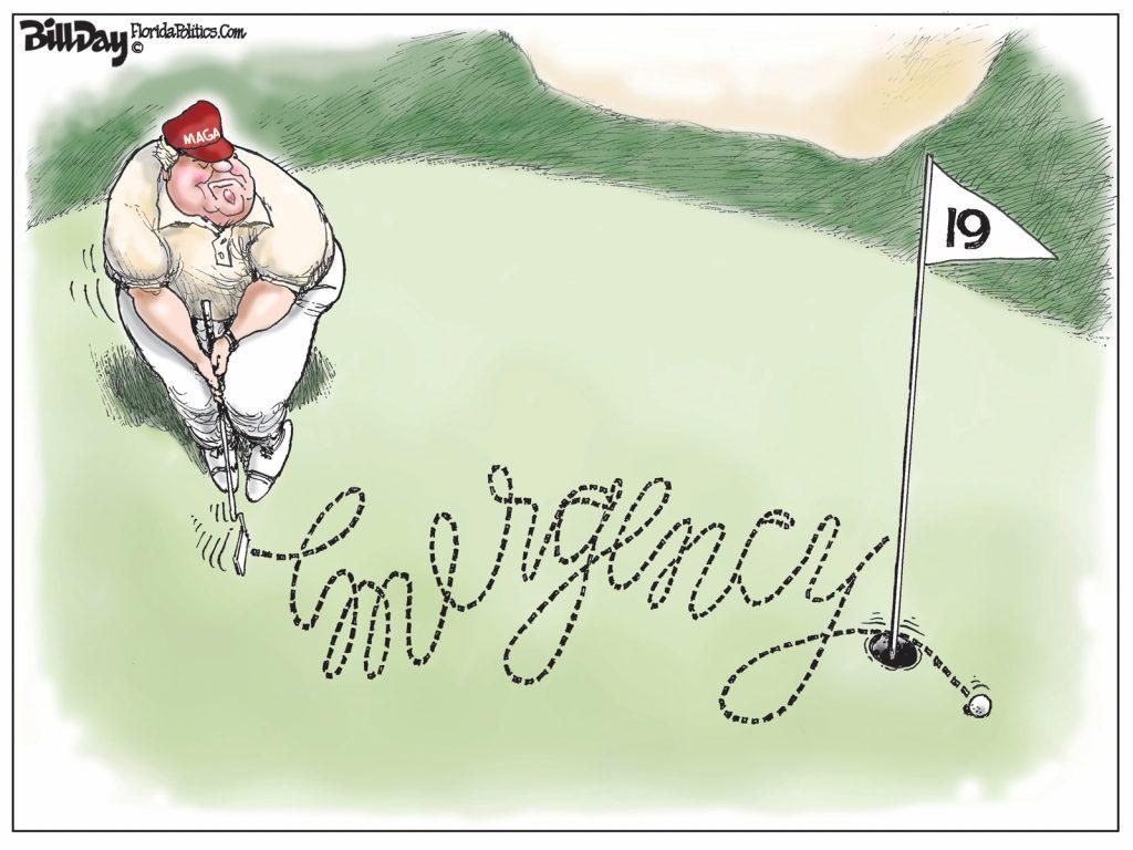 Emergency Putt, A Cartoon by Award-Winning Bill Day