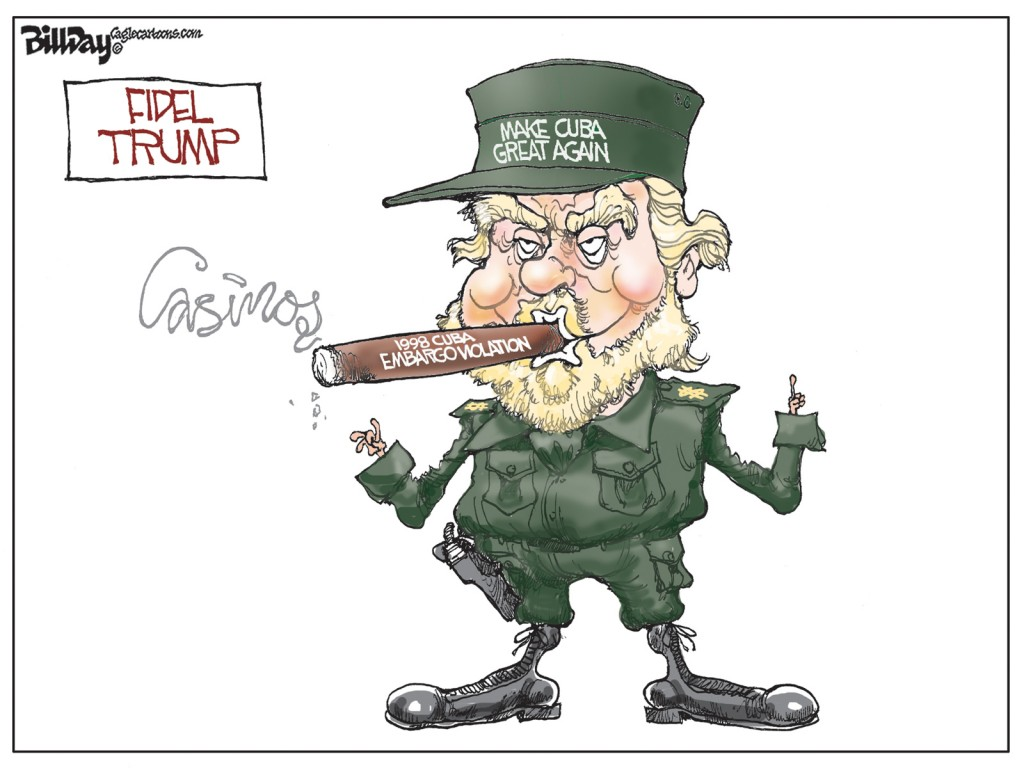 Fidel Trump, A Bill Day Cartoon