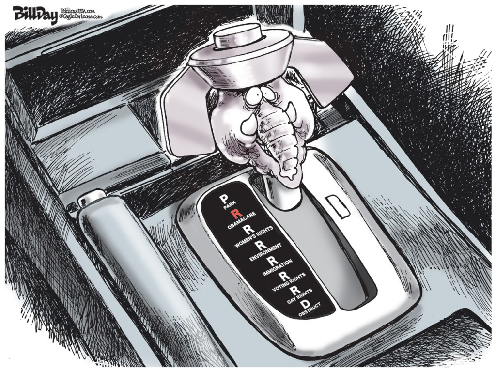 Wingnut Gear Shift, A Bill Day Cartoon