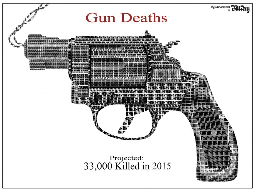 Gun Deaths, A Bill Day Cartoon