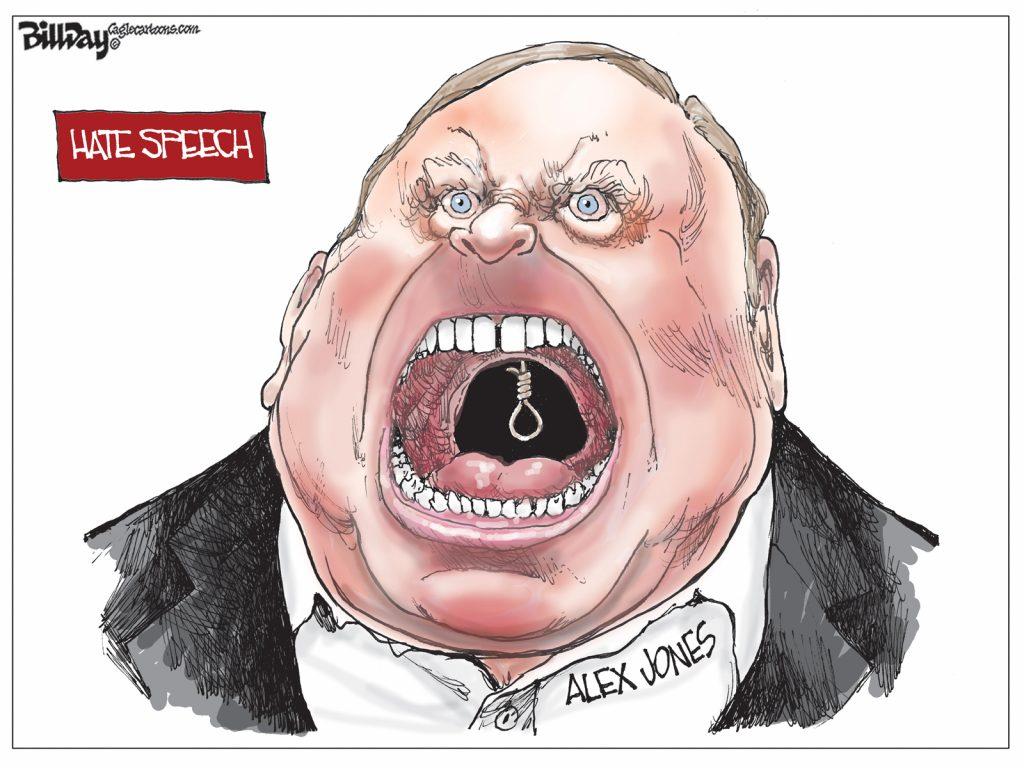 Hate Speech, A Cartoon by Award-Winning Bill Day