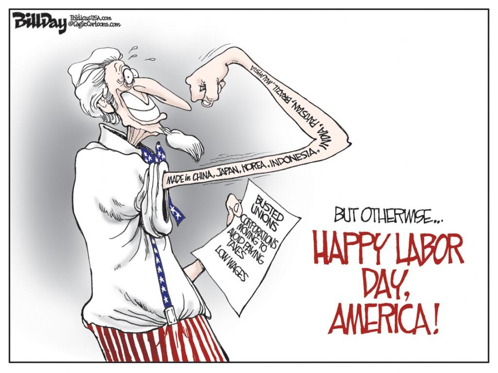 Happy Labor Day, A Bill Day Cartoon