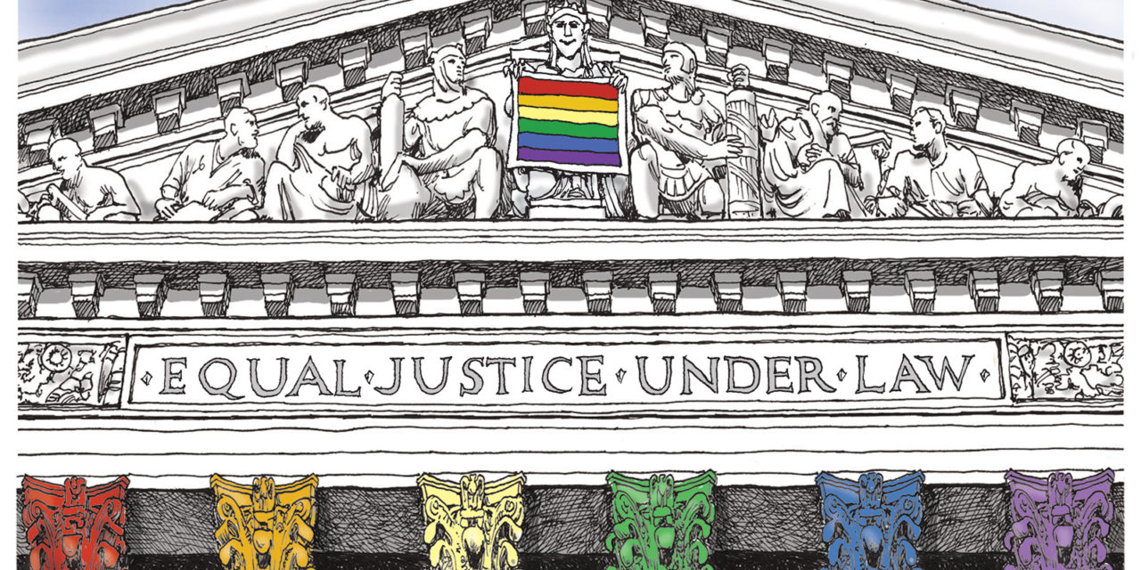 Justice Prevails, A Cartoon by Award-Winning Bill Day