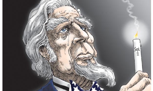 9-11 Candle, A Cartoon By Award-Winning Bill Day