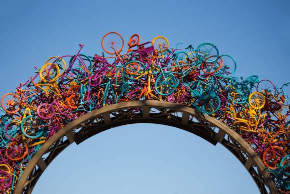 Overton Park's Bike Sculpture.