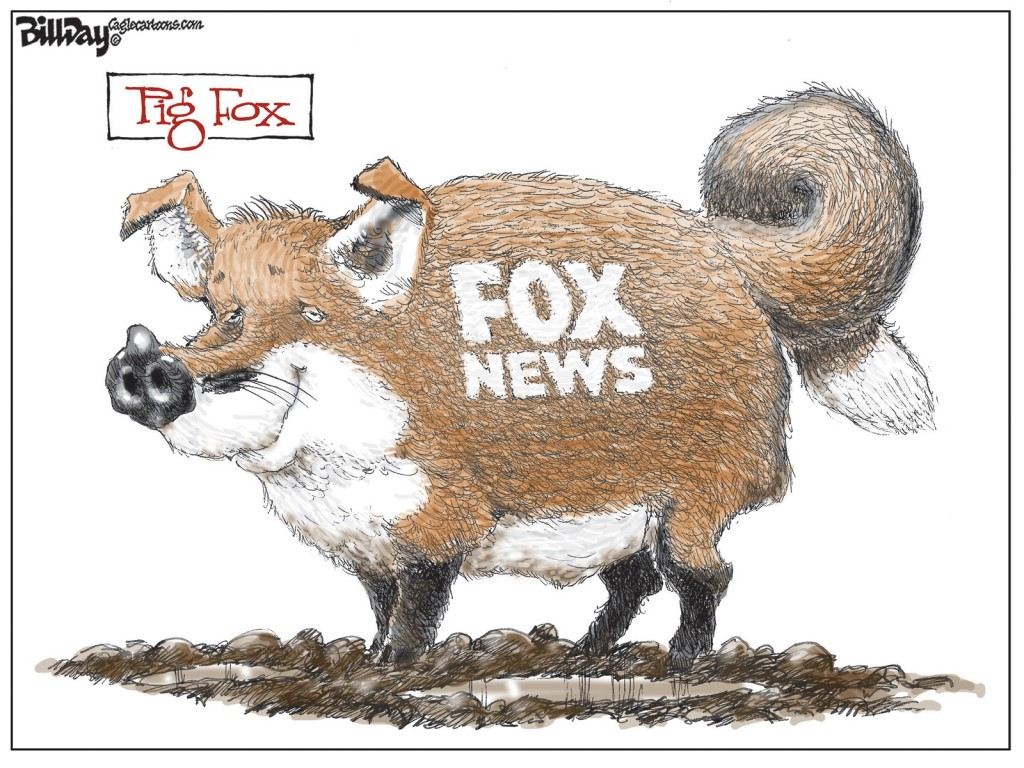 Pig Fox, A Bill Day Cartoon