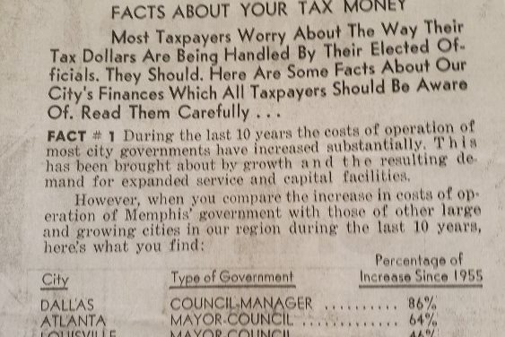 1968: The Year City of Memphis Government Was Changed