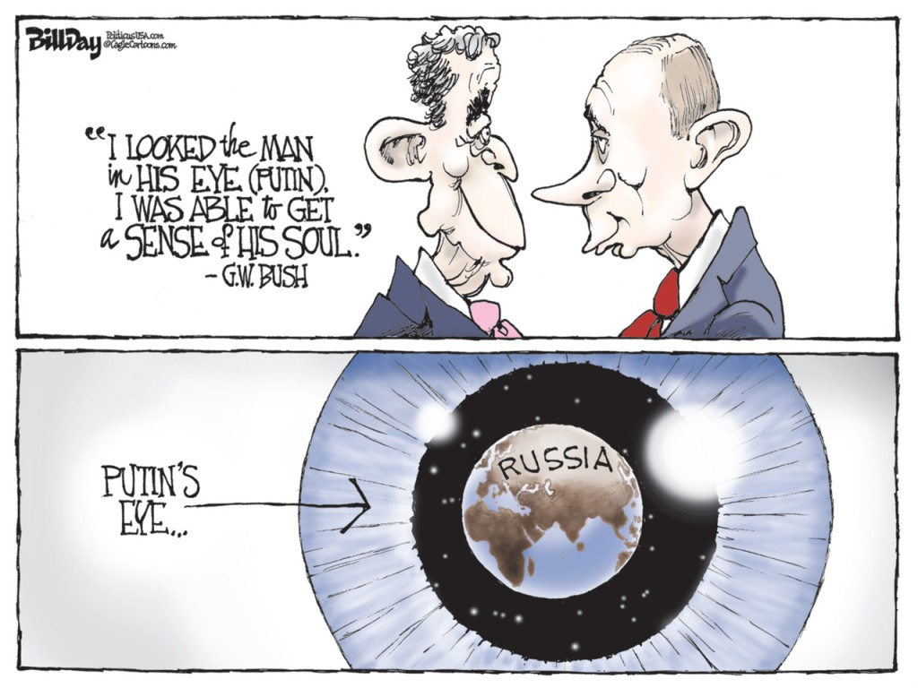 Putin's Eye, A Bill Day Cartoon