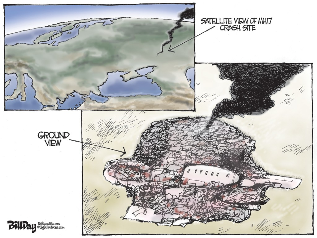 Putin's Victims, A Bill Day Cartoon