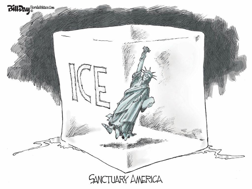 Sanctuary America, A Cartoon by Award-Winning Bill Day