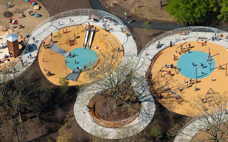 Children's playground at Shelby Farms Park.
