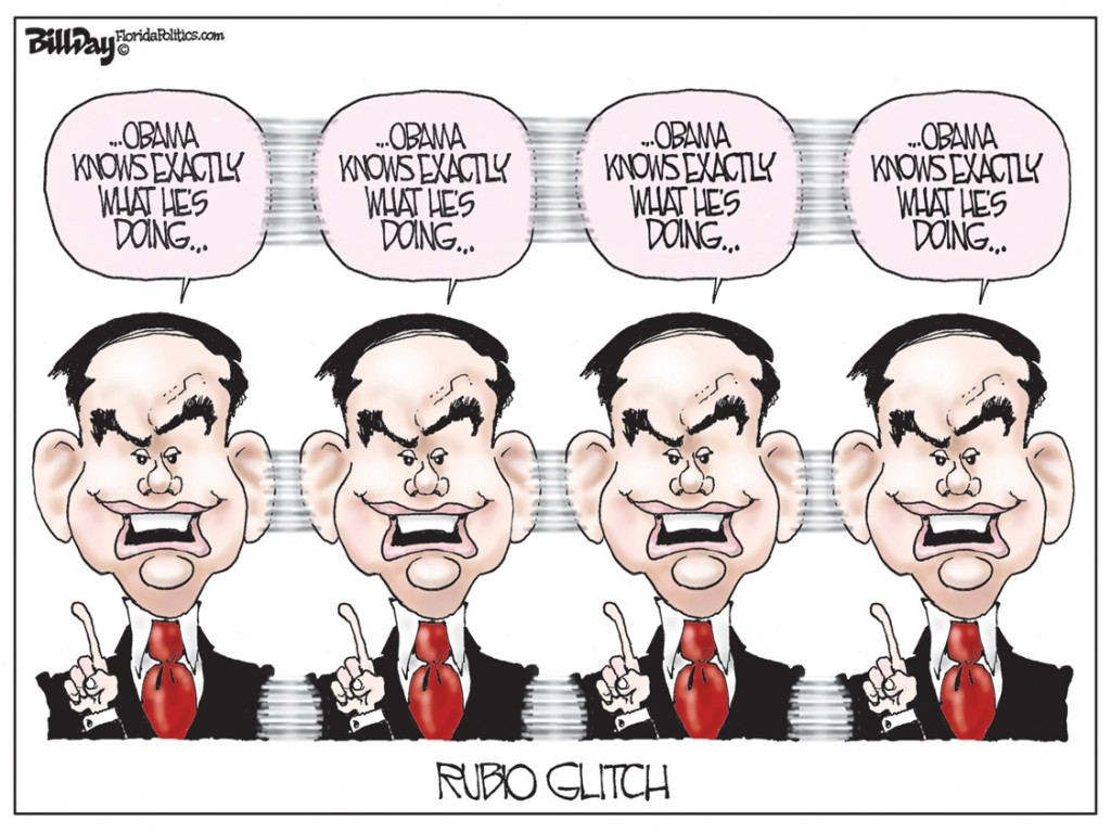 Rubio Glitch, A Bill Day Cartoon