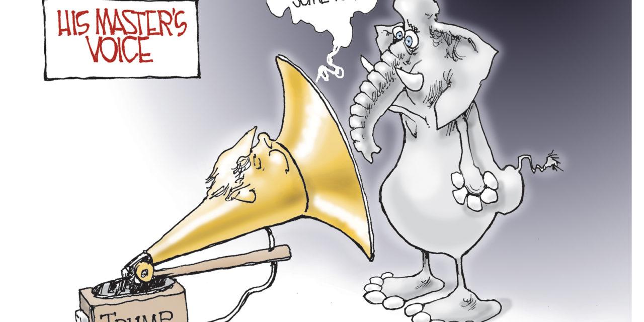 The Master's Voice, A Cartoon By Award-Winning Bill Day