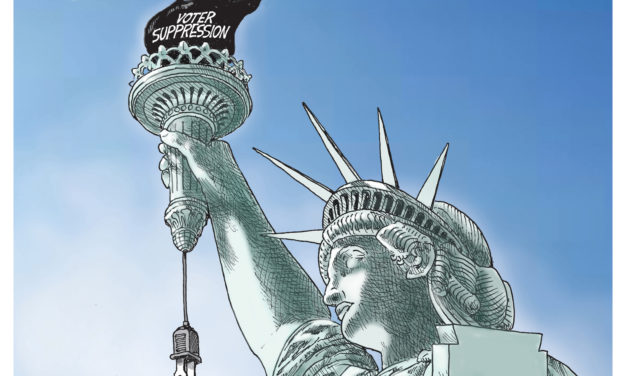Voter Suppression, A Cartoon By Award-Winning Bill Day