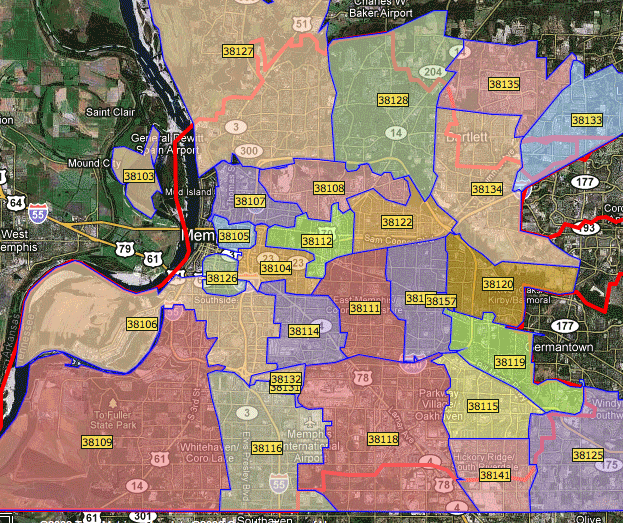 Memphis Tn Zip Code Map Data Points: Poverty Rates by Zip Codes « Smart City Memphis
